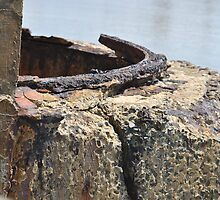 Rusting on the Pier by Eldon Mason