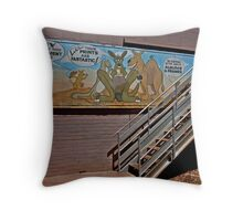 Aussie Critters Stairway Throw Pillow