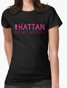 Man hattan Tee - Best - Color Lettering Womens Fitted T-Shirt