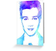 chris in blue Greeting Card