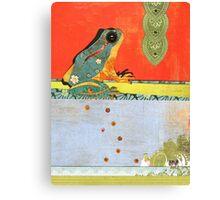 Frog Totem Canvas Print