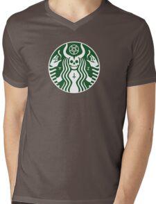 The satan-buck Mens V-Neck T-Shirt