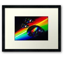 In rainbow light Framed Print