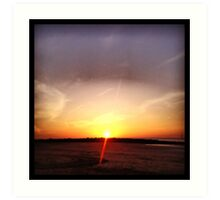 FullMoon Sunset Art Print