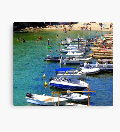 Cala Alcaufar Harbour Canvas Print