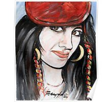 Girl in The Red Beret Poster