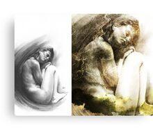 Embryonic - Conté Drawing COMPILATION Canvas Print