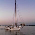 Skipjack Dusk  © by Mary Campbell