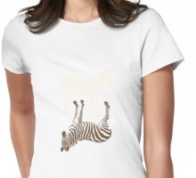 Zebras Pattern Womens Fitted T-Shirt