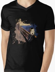 Scream Alone Mens V-Neck T-Shirt