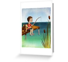 Fishing with a friend Greeting Card