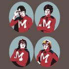 Monkees Monkeemen circle shirt by juliealberti