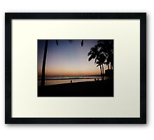 Romantic silhouette Framed Print