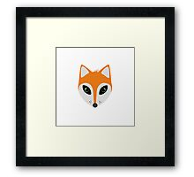 Fox with green eyes Framed Print