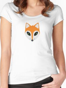 Fox with green eyes Women's Fitted Scoop T-Shirt