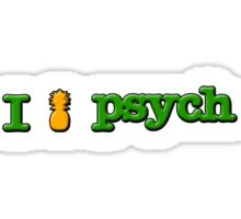 I Love Psych Design Sticker