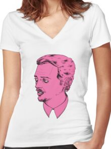 Mr. Pink Women's Fitted V-Neck T-Shirt