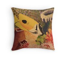 Foxface Rabbit Fish Throw Pillow