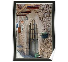 Front Door to a Home in Italy Poster