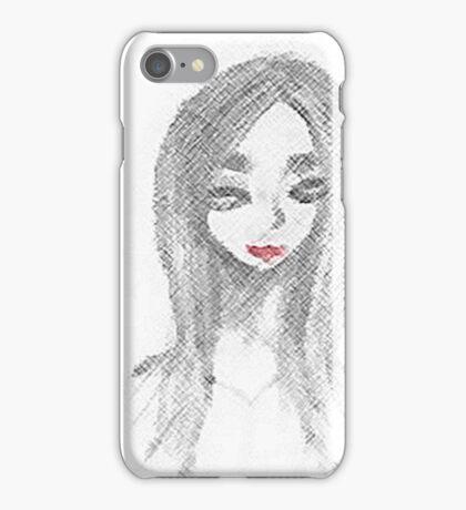 Achromatic Kiss iPhone Case/Skin