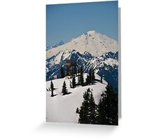 Lookout Mountain, Lookout Tower with Mt. Baker  Greeting Card