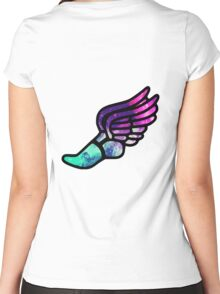 Galaxy Track Logo Women's Fitted Scoop T-Shirt