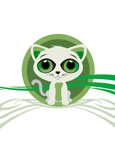 Kitten - Green by Adamzworld