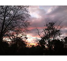 sky at sunset / dusk Photographic Print
