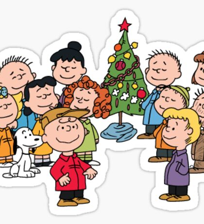 Charlie Brown Christmas Sticker