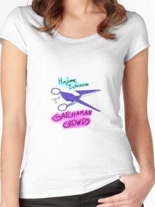 Gatchaman Crowds Hajime Scissors Women's Fitted Scoop T-Shirt