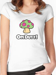 On Duty Shroom Women's Fitted Scoop T-Shirt