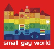 Small Gay World - Dark Background by Bear Pound