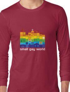 Small Gay World - Dark Background Long Sleeve T-Shirt