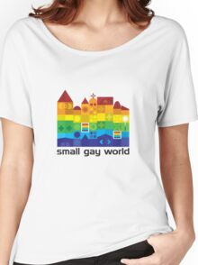 Small Gay World - Light Background Women's Relaxed Fit T-Shirt