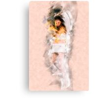 Cupid (Greek Eros) the god of desire, affection and erotic love In Roman mythology, Canvas Print