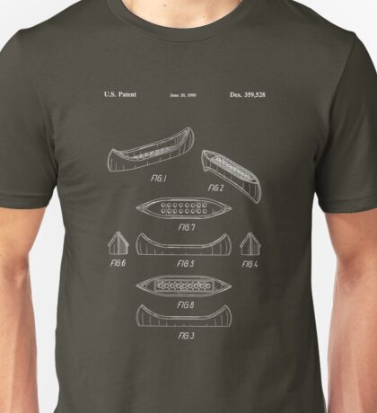 The Lego Patent Of Canoe In White Version Unisex T-Shirt
