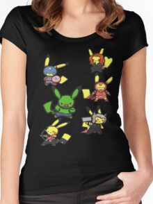 Pikachu Avengers Women's Fitted Scoop T-Shirt