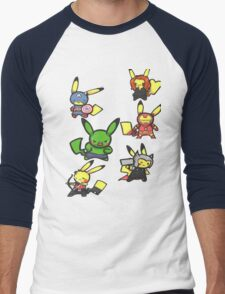Pikachu Avengers Men's Baseball ¾ T-Shirt