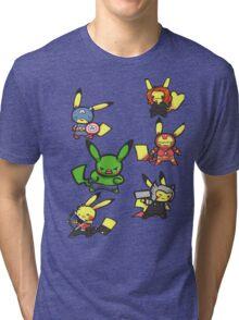 Pikachu Avengers Tri-blend T-Shirt