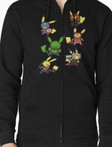 Pikachu Avengers Zipped Hoodie