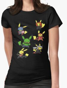 Pikachu Avengers Womens Fitted T-Shirt