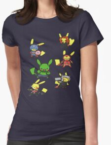 Pikachu Avengers Womens Fitted T-Shirt