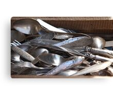 Antique silverware Canvas Print