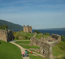 Urquhart Castle on Loch Ness, Scotland by Graeme Rouillon