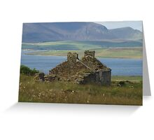 Old Home ruins on Orkney Islands Scotland Greeting Card