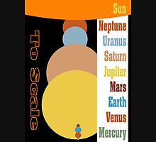 Planets - Size to Scale Unisex T-Shirt