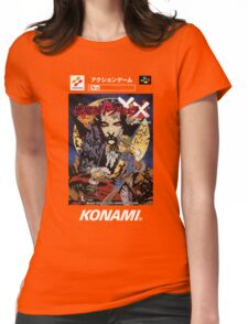 Castlevania Akumajo Dracula X Nintendo Super Famicom Japanese Box Art Womens Fitted T-Shirt