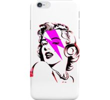 Pink Flash Marilyn Stardust  iPhone Case/Skin