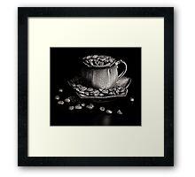 Coffee in monochrome Framed Print