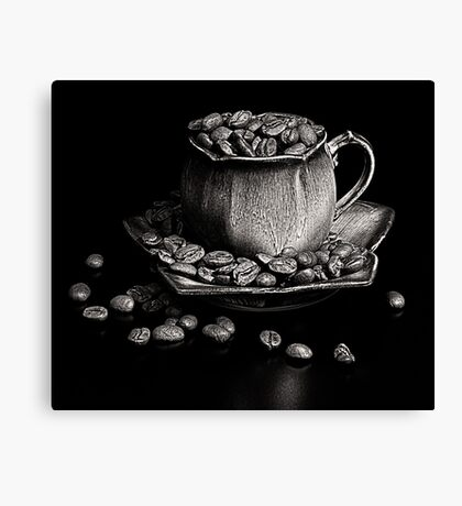Coffee in monochrome Canvas Print